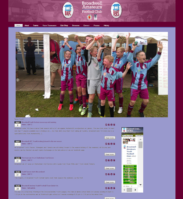 Broadwell AFC Official Website